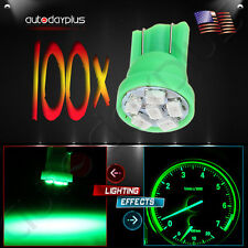 100X T10 194 Green 6SMD LED Trunk Map License Plate Light Bulbs For Ford f-150