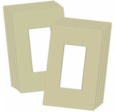 10 PACK 1-GANG SCREWLESS DECORATOR WALL PLATES CHILD SAFE OUTLET COVERS, IVORY