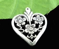 Markenlose Modeschmuck-Halsketten & -Anhänger aus Kunststoff mit Herz für Damen