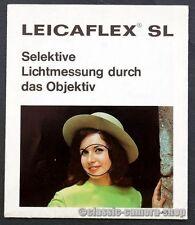 LEITZ Kamera Reklame Prospekt LEICAFLEX SL Broschüre Werbung Werbeheft (X2617