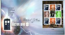 """Doctor Who 2013 """"Monsters Mini Sheet"""" Fdc Signed by Bernard Cribbins"""