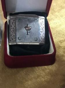 Royal Vintage Antique Silver lighter king farouq - farouk 1936