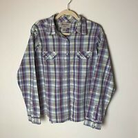 Wrancher by Wrangler Women's Western Shirt Size XL Top Plaid Snap Closures
