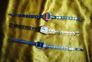 Old Russian mechanical watches.(three hours.) for repair. for spare parts. with