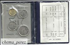 // Cartera pruebas numismaticas 1980 *81 Flor cuño Futbol numerada\