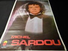 michel sardou  !! rare affiche concert vintage 70