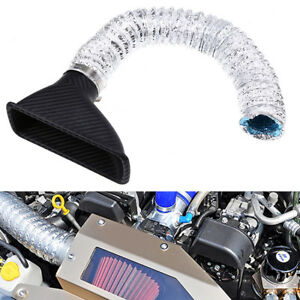 Racing ABS Carbon Fiber Car Turbo Air Intake Pipe Turbine Inlet Pipe Air Funnel