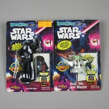 Bend-Ems Star Wars DARTH VADER and YODA Action Figures with Topps Galaxy Cards