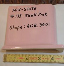 "1 pc. Glossy *Shell Pink* 4"" X 4"" Ceramic Cove Base Outside Corner Tile-stack-on"