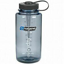 Nalgene Wide Mouth Gray Tritan 32oz With Black Loop Top Water Bottle