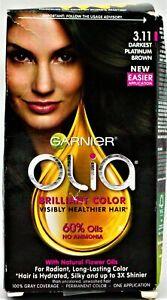Garnier Olia Brilliant Hair Color 3.11 Darkest Platinum Brown
