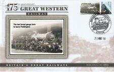 2010 GWR 175th ANNIVERSARY LAST BROAD GAUGE PADDINGTON BENHAM LE RAILWAY COVER
