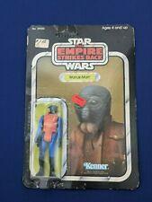 Vintage 1980 Kenner Star Wars Esb Walrus Man New 31-Back (31B) On Card Unpunched