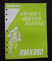 GENUINE 1994 1995 SUZUKI 250 RMX250 MOTORCYCLE OWNER'S SERVICE MANUAL VERY CLEAN