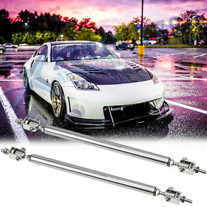 for Nissan 350 370 GTR Adjustable Bumper Lip Splitter Strut Rod Tie Support Bars