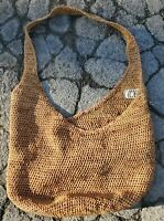 "Vintage Helen Kaminski Large Natural Raffia Woven Shoulder Bag 15"" Deep 16"" Wide"