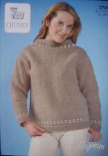 King Cole  Chunky Knitting Pattern 2744: Jacket & Sweater