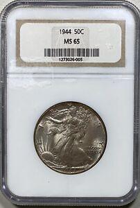 1944 Walking Liberty 50c Silver Half Dollar NGC MS 65