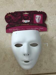 WHITE MALE BLANK FACE MASK HALLOWEEN COSTUME ACCESSORY TF111601