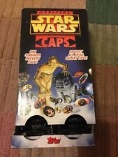 Official Star Wars 1995 Topps Display Box And Case Of 48 Packs Caps Pogs NIP