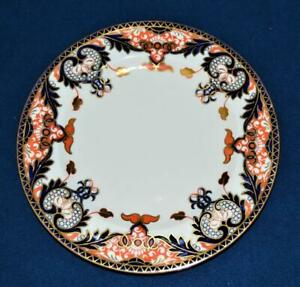 "Atq 1906 ROYAL CROWN DERBY China England Gold Cobalt Blue#4464 10""d Dinner Plate"