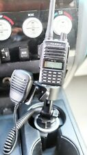 Cup Holder Mount With Adjustable Height For Icom Kenwood Yaesu And Mic Holder