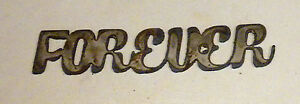 """10"""" FOREVER Rusty Rough Metal Wall Art Vintage Craft Wedding Love Sign Stencil"""
