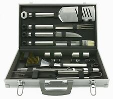 Grill Utensil Set 21 Pc Stainless Steel BBQ Tools Outdoor Barbecue Cooking Case