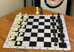 Tournament Chess Set Triple Weighted Pieces EXTRA QUEENS 20 x 20 Mousepad Board