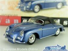 PORSCHE 356 MODEL CAR 1:43 SCALE VANGUARDS BLUE VA07900 SOFT TOP 356A K8