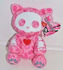 "Skelanimals Kit Kitty Cat Heart  Pink Plush Stuffed Animal 7"" NEW"