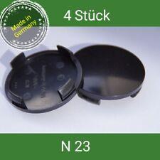 N 23 schwarz  Nabenkappen  Felgendeckel 60 mm Rial Alutec  4 St.