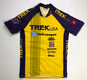 VINTAGE Trek USA Volkswagen Cycling Jersey SS Men Adult Large Yellow Purple