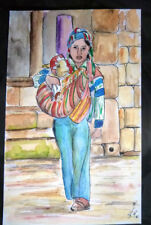 Acquerello su carta - regalo Natale - Cuzco, Perù di Antonietta Bandelloni