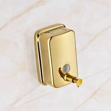Golden Soap Dispenser Box Mounted Stainless Steel Gold Bathroom Liquid Soap Pump