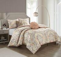 Lanco Chlo 6-Piece Reversible Comforter Bedding Set Cal King Queen