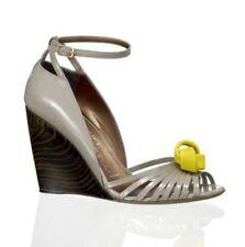 Banfi zambrelli Gabrielle Leder Keil Sandalen Schuhe 38eu/8us Made in Italy