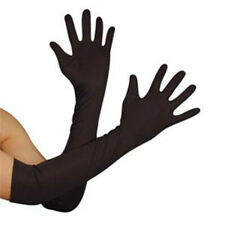 Long Satin Silk Party Costume Gloves Wedding Dress Gloves Etiquette Sexy Mittens
