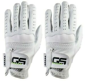 GS Golf Glove 100% PREMIUM New Men's Cabretta Leather!  2-Pack!