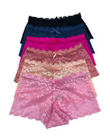 Holiday Deal Lot 6 or 12 Women Boxer Cheeky Lace Boyshorts Panty S M L XL