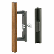 Prime-Line  Patio Door Handle Set  Wood/Black  Die-Cast