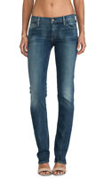 CITIZENS OF HUMANITY Ava Classic Straight Leg Denim Jeans Muse Blue 24 $198 #107
