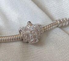 Abalorio/charm/bead  CORONA REAL plata 925  CZ  (european bracelet  ROYAL CROWN)