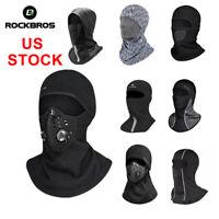 ROCKBROS Winter Cycling Windproof Warm Face Mask Fleece Scarf Cap Headscarf