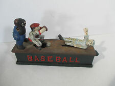 Cast Iron Baseball Coin Bank Mechanical Vintage Toy Part Only Non working