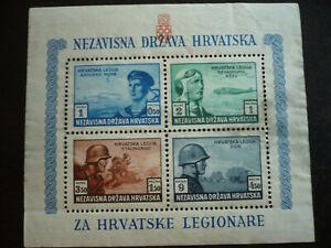 Stamps - Croatia - Scott# B37 - Souvenir Sheet