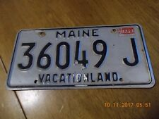 MAINE VACATIONLAND LICENSE PLATE #36049 J