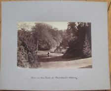 "Fountains Abbey, North Yorkshire, UK- 1880s Photograph/Photo on Board - 10"" x 8"""