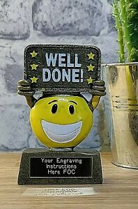 Well Done Star Trophy With FREE LASER Engraving