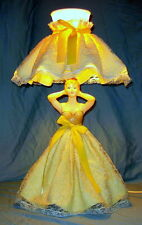 """Vintage Southern Bell Victorian Lady Figurine Lamp Gilbert Creation - 21"""" Tall"""